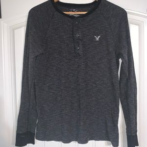 American Eagle Thermal Henley